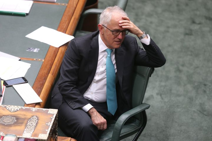 Prime Minister Malcolm Turnbull during question time at Parliament House in Canberra on Thursday 26 October 2017. Fedpol. Photo: Andrew Meares