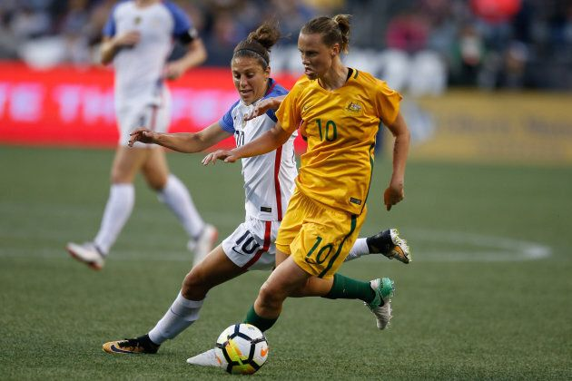 Emily's been winning games with the Matildas all year -- including this one against the United States...