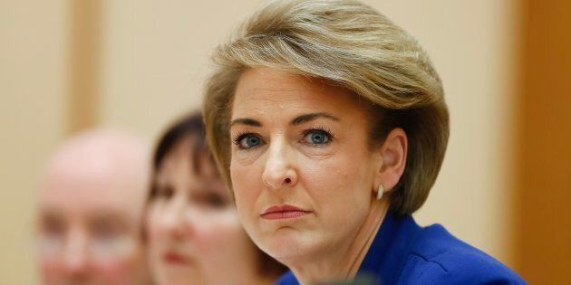 Minister for Employment Michaelia Cash during a Senate estimates hearing at Parliament House in Canberra...