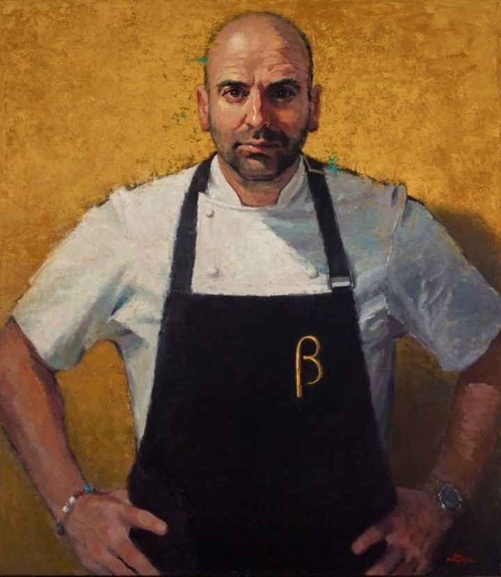 Betina Fauvel-Ogden's Archibald Prize entry, 'George Calombaris, masterchef'.