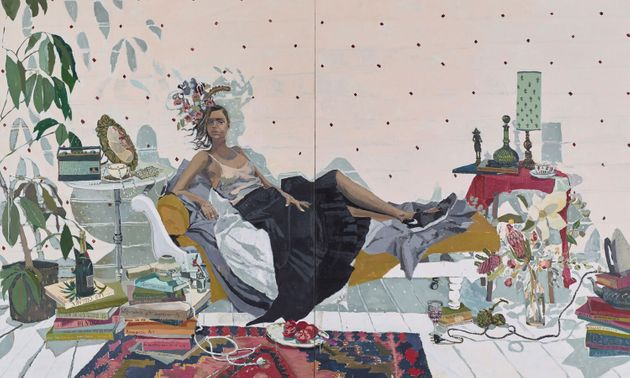 Zoe Young's portrait 'Sam Harris' is a 2016 Archibald Prize