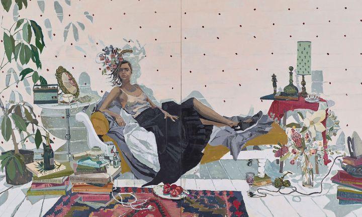 Zoe Young's portrait 'Sam Harris' is a 2016 Archibald Prize finalist.