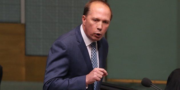 Immigration minister Peter Dutton during question time at Parliament House Canberra on Monday 21 November...
