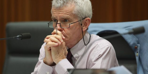 Senator Malcolm Roberts during a Senate hearing at Parliament House in Canberra on Friday 27 October...