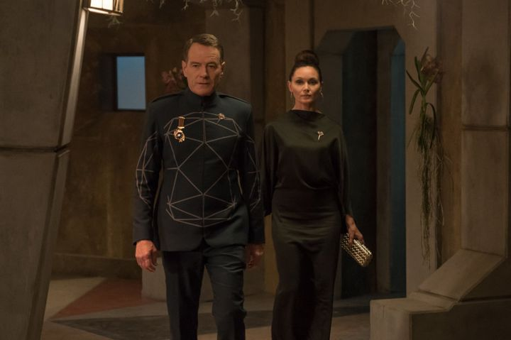 Bryan Cranston and Essie Davis in 'Human Is'.