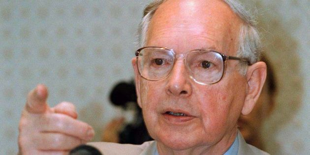 Sir Ninian Stephen, a judge and former governor-general of Australia in Phnom Penh, Cambodia, in