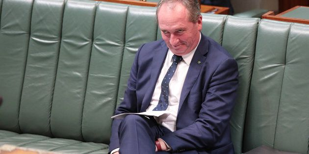 Barnaby Joyce is on the campaign trail to win the seat of New England, which he was found to be ineligible...