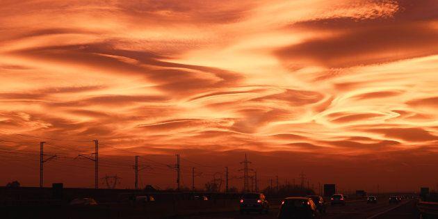 Milan's stunning sunset.