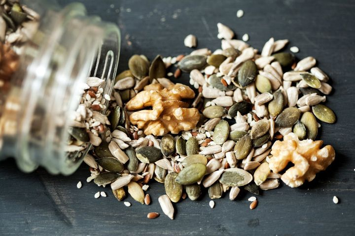Nuts and seeds are full of healthy fats and help to keep you full for longer.