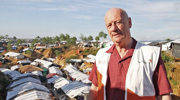 Tim Costello at the refugee camp at Cox's Bazar,