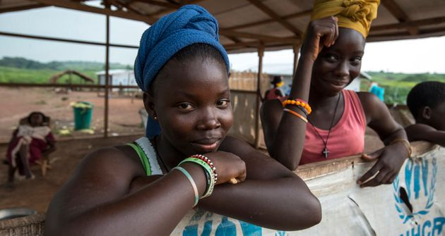 Young women from Central African Republic in one of five Congolese refugee camps where Australia for...