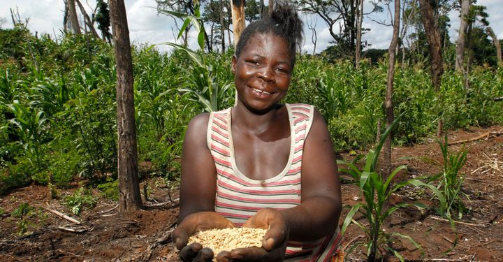 Pascaline is one of 80 women who have rebuilt their lives through an agricultural project in the Democratic Republic of Congo, after fleeing from the Lord's Resistance Army.
