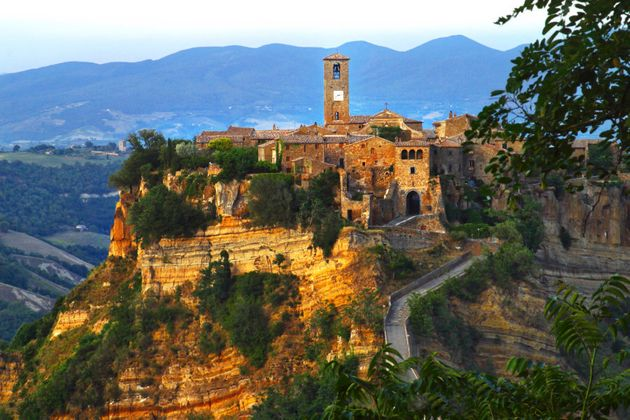 The population of Civita di Bagnoregio varies from about 12 people in winter to more than 100 in
