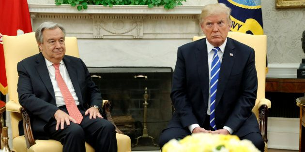 Antonio Guterres met Donald Trump last week, and we're not sure either man was