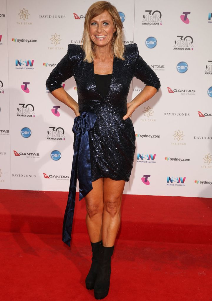 Kasey Chambers in navy sparkle.