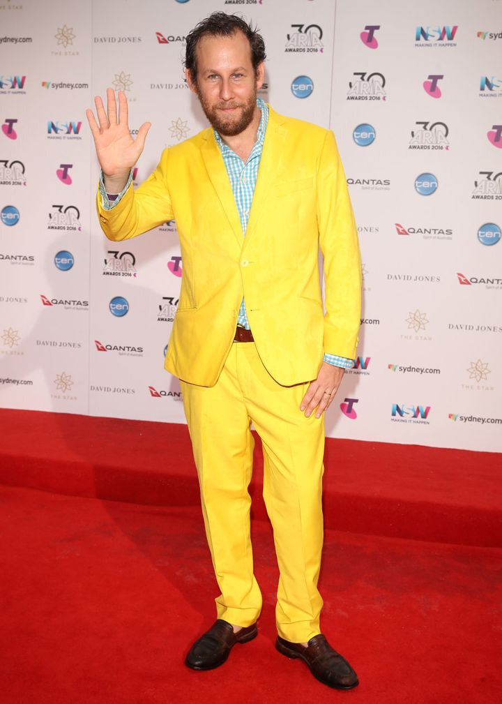 Ben Lee looking striking in canary yellow.