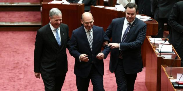 Dragged in, and dragged out -- Stephen Parry has resigned over the dual citizenship saga.