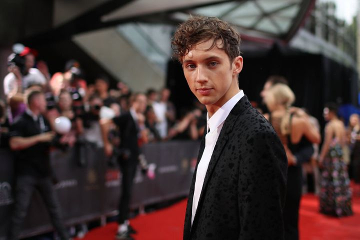 Youtube sensation Troye Sivan and his stare.