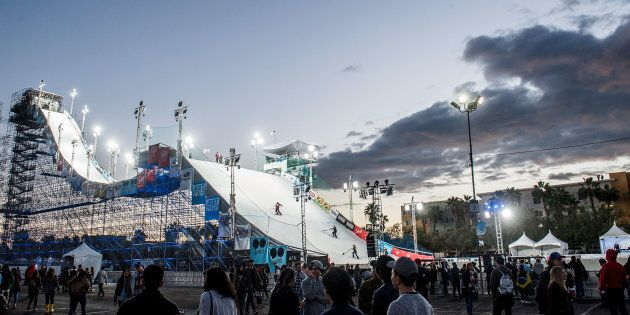 This was the ramp at AIR + STYLE in L.A. in February, 2017. Look out,