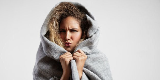 That blanket might keep you warm, but it's going to do zilch when it comes to fending off a cold.