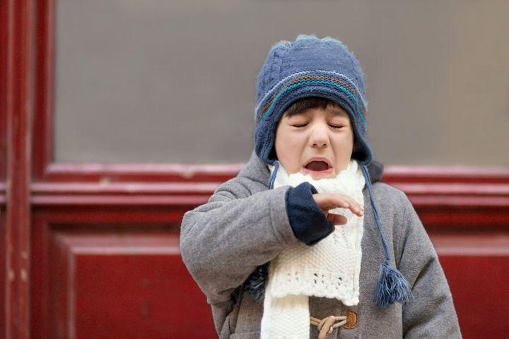 This little boy went sneeze sneeze sneeze all the way home.