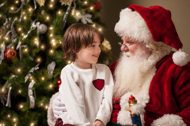 Children may have questions after seeing different Santas at different department