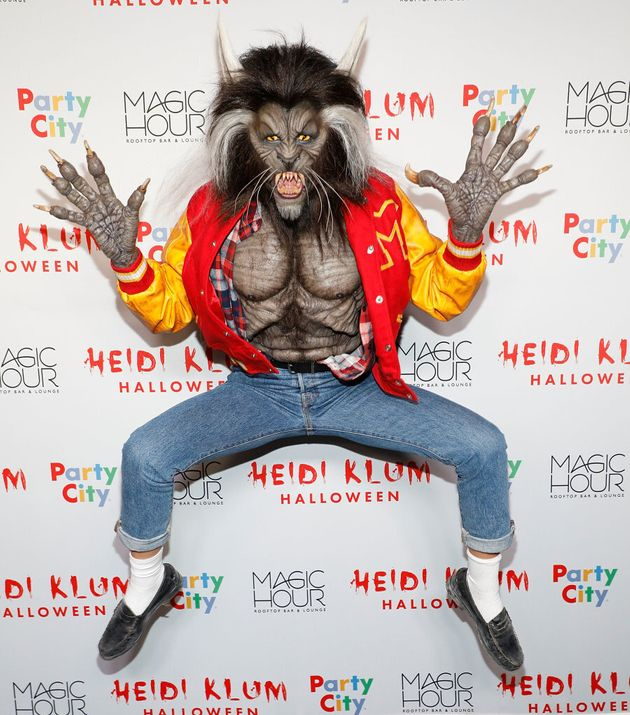 Heidi Klum going above and beyond, as she does every year, getting into the true spirit of