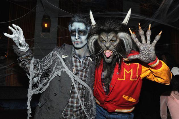 Zac Posen and Heidi Klum doing their best posin' in their Halloween