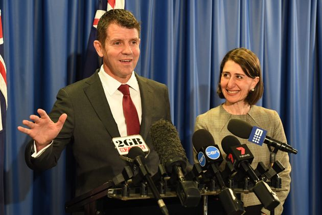 NSW Premier Mike Baird and Treasurer Gladys Berejiklian announce the lease of Ausgrid in