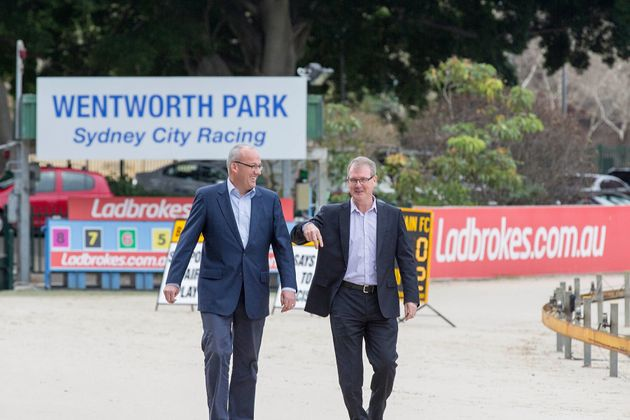 NSW opposition leader Luke Foley (left) and NSW shadow Minister for gaming and racing, Michael Maley,...