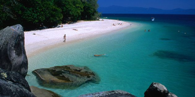 The islands off Cairns are stunning.