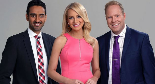 Hosts of The Project, Waleed Ally Carrie Bickmore and Peter