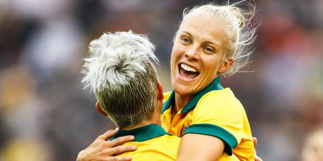 Tameka Butt is now one of the Matildas' best players -- and gee she's happy about