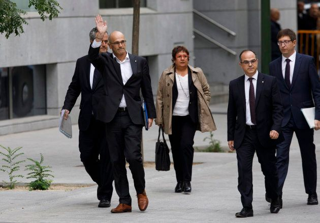 Former members of the Catalan Government attended Spain's National High