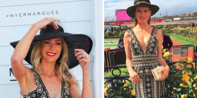Two Girls One Dress -- The Drama From Derby Day