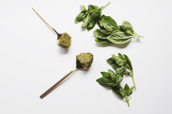 Freeze pesto into ice cubes for quick, easy individual portions.