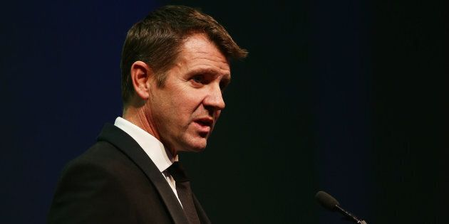 NSW Premier Mike Baird has been retweeting his opponent's pro Greyhound