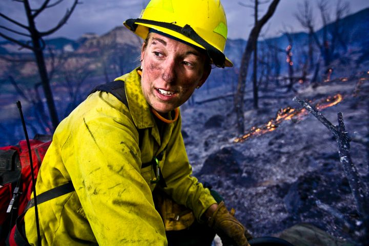 Women can be firefighters just like they're police, doctors and astronauts.