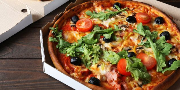 Pizza tip: go for a thin crust and add rocket.