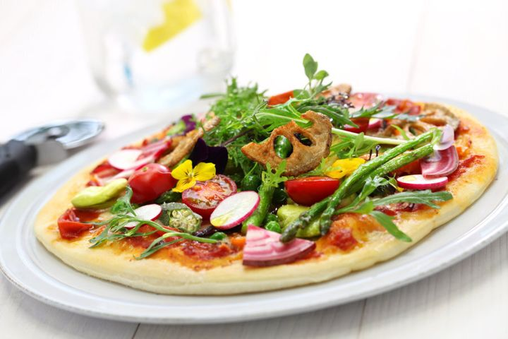 Pick a vegetarian pizza to boost the nutrition and veggie content.