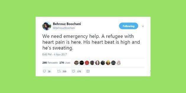 Behrouz Boochani is an Iranian