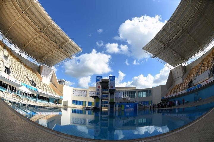 The diving will be held outdoors.