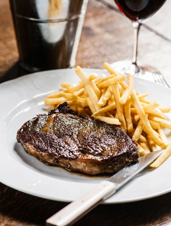 Steak and chips, but fancy.