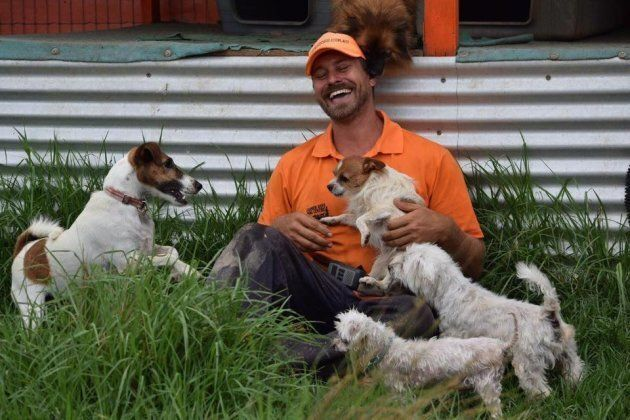 Farmer Dave at his now closed Sydney dog training centre.