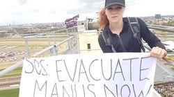 Melbourne Cup: Manus Refugee Protesters Climb Crane, Block Train