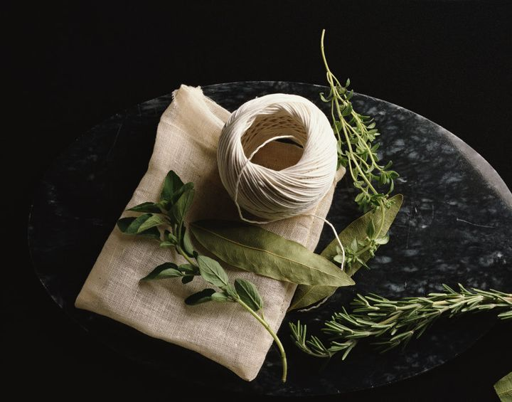 All you need for a bouquet garni are fresh herbs and twine.