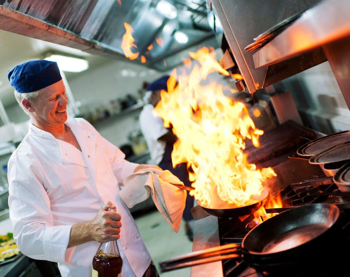 Perhaps it's best to leave flambé to the chefs and not set your whole kitchen on fire.