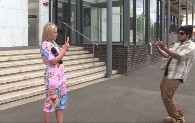 Raworth responded calmly to the verbal attack and filmed her abuser on her phone.