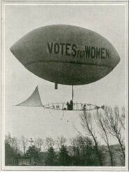 Muriel Matters took to an airship to throw handbills with 'Votes for Women' written on them. The mission failed but it's okay, Matters had other plans.