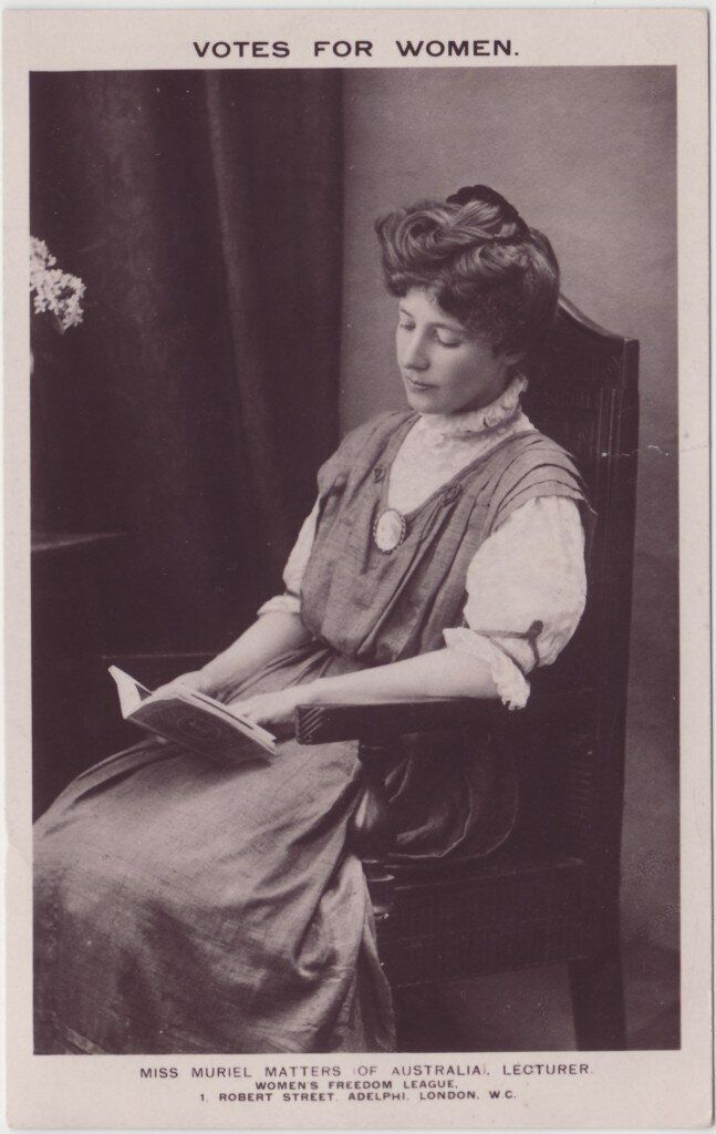 Muriel Matters was a fearless campaigner for women's right to vote.